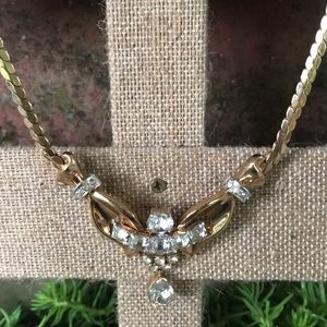Brilliant Vtg Mazer Bros Rhinestone Necklace